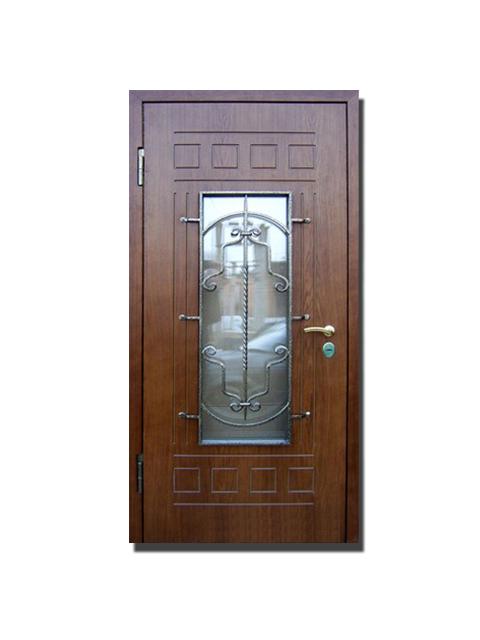 остекленные металлические входные двери